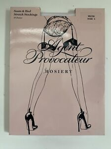 Agent Provocateur Seam & Heel Stockings White Size 3