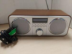Tesco DAB FM Radio DR1402 Wooden Stereo  C60