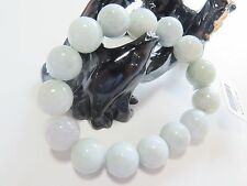 Best Gift Fine Natural Jadeite Jade Aqua Smooth Beads Perfect Bracelet 13m