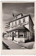AK GRUSS AUS HELGOLAND KR PINNEBERG HOTEL STADT WIESBADEN1940 SCHLESWIG HOLSTEIN