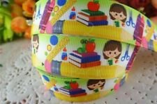 School Printed Grosgrain Ribbons Cartoon Crafts Diy Hair Bows Gift Wrapping
