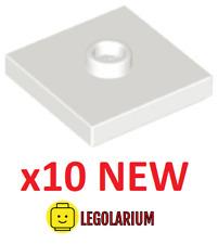 Lego Teile NEU - 10 Stück Platte 2x2 mit Nut 1 Nieten 87580 weiß