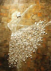 """20""""x28"""" Pure Hand-painted Abstract Oil Painting Ballerina Dance /NO Frame"""