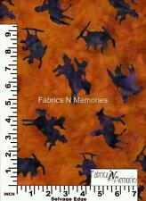 Cowboy Toss Rodeo Rust Fabric F999 Avlyn BY THE HALF YARD
