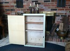 Built in Wall Cabinet Vintage 1940's Salvaged with Shelves and Original Paint