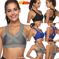 New Women Stretch Shockproof Yoga Bra no Padded Tank Tops Seamless Sports Bra LZ