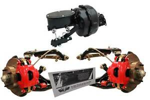 GM A Body Chevelle GTO Disc Brake Conversion Kit Control Arms Red Calipers Oval