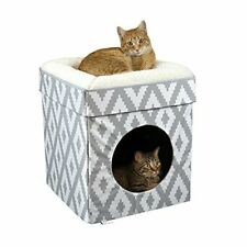 New listing Kitty City Large Cat Bed Stackable Cat Cube Indoor Cat House/Cat Condo
