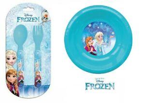 Disney Official Licensed FROZEN Children Toddler Baby Doll Cutlery + Plate set
