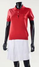 Louis Vuitton Superbe polo en cachemire rouge à manches courtes - Neuf non porté