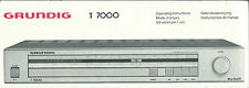 Grundig T 7000/user manual BDA manuale d'uso