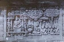 Temple Carvings, Borobudur/Barabudur, Indonesia, Magic Lantern Glass Slide
