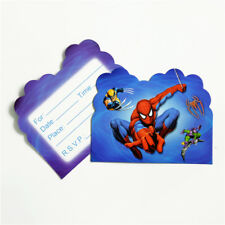 10PCS SPIDERMAN BIRTHDAY INVITATION CARDS LOOT BAG Party Supplies Decoration