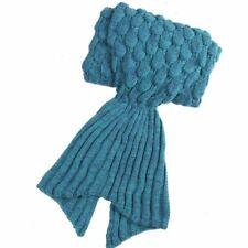 Mermaid Tail Blankets knit Crochet Adult Summer Winter Soft Quilt Sleeping Bags