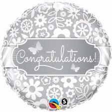 Congratulations Butterflies Foil Balloon Qualatex Helium