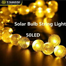 50LED String Solar Powered Fairy Lights Garden Party Christmas Outdoor Deco Lamp