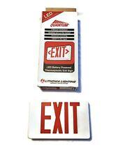 Lithonia Quantum LED white Exit Light battery LQMSW3R 120/277 EL New Commercial