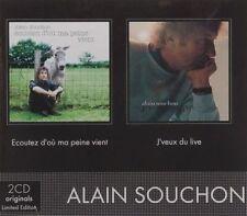 ALAIN SOUCHON - J'VEUX DU LIVE/ECOUTEZ D'OU VIENT NEW CD