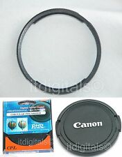 For Canon Powershot SX40 HS Filter Adapter + CPL Filter + Lens Cap Metal Ring