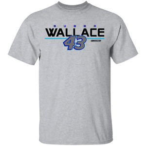 Men's Bubba Darrell Wallace Jr #43 Nascar logo 2002 T-Shirt
