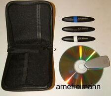 2 x DVD u.CD Marker Set + CD Reiniger inkl. Tasche ,ovp.NEU