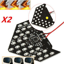 2 Super Yellow 33-SMD Sequential LED Arrow for Car Side Mirror Turn Signal Light