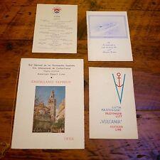 Lot of 4 Vtg 1930s-1960s Cosulich Line Italian Cruise Ship Menu Passenger List