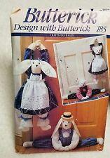 Butterick Design Rabbit and Bear Door Stoper 1991