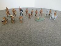 LOT (14) 1930s BARCLAY / MANOIL WW1 LEAD METAL TOY DOUGHBOY SOLDIERS INFANTRY