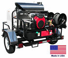 PRESSURE WASHER Hot Water - Trailer Mount - 200 Gal - 8 GPM - 3000 PSI - 115V G