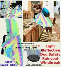 Reflective Dog Accessories Neon Clothes Vest Raincoat Rain Fashion Jacket Outfit