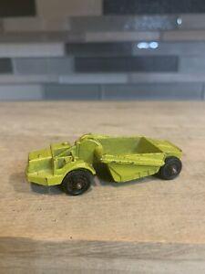 Classic Vintage Mini MatchBox Car Construction Trailer Tin Metal Car Antique Toy