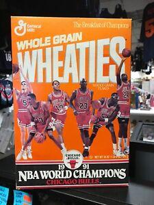1991 Michael Jordan Chicago Bulls NBA Champions Wheaties Box Sealed 18 OZ