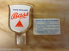 Bass Beer Acrylic Tap Handle Clearfloat Marker