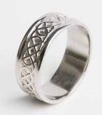 Platinum Irish Made Celtic Knot Wedding Band Ring all sizes 10mm