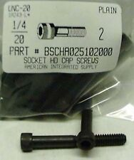 1/4-20x2 Hex Socket Head Cap Screws Alloy Steel Black (18)