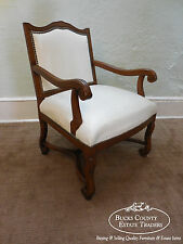 Custom Made Vintage Country French Style Occasional Open Arm Chair