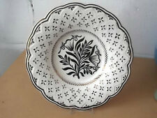 WEDGWOOD CREAM WARE DECORATIVE PLATE  WITH A GOLD COLOURED PATTERN