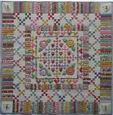 ~ NEW PATTERN ~ PIECED & APPLIQUE ~ HEARTS AND FLOWERS ~ 55X55 QUILT~