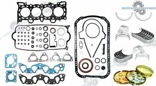 92-95 HONDA Civic EX Del Sol Si 1.6L V-Tec D16Z6 Gasket Rings Main Rod Bearings