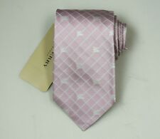 "NEW Burberry PINK Check Mans 100% Silk Tie Authentic Italy Made 3.5"" 0350115"