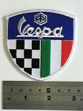 Vespa Check/Ital Patch - Embroidered - Iron or Sew On