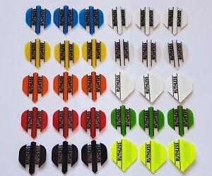 Bulk Pack of 30 Ruthless Extra Strong Standard Shape Dart Flights Mixed Colours