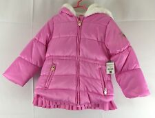 NWT Girls OSH KOSH B GOSH Pink Faux Fur Jacket Coat Size...