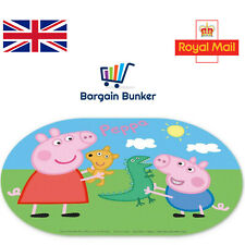 PEPPA PIG OVAL BPA FREE CHILDRENS WIPE CLEAN PLACEMAT