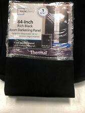 Rich Black Mainstays Room Darkening Rod Pocket Panel Curtain 1 Panel Pack 84X54
