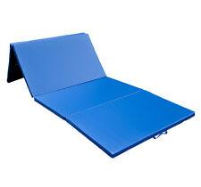 HOMCOM Tapis de gymnastique matelas fitness pliable portable bleu neuf 30