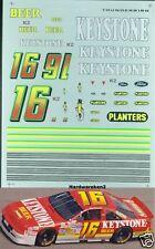 NASCAR DECAL #16 KEYSTONE BEER 1992/1993 FORD THUNDERBIRD WALLY DALLENBACH