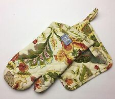 C&F AMELIA Quilted Cotton Oven Mitt and Pot Holder Set