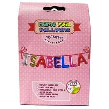 Royal County Products Name Foil Balloons - Isabella - New